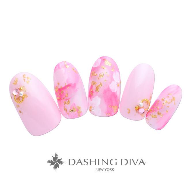 ランダムピンク桜ネイル